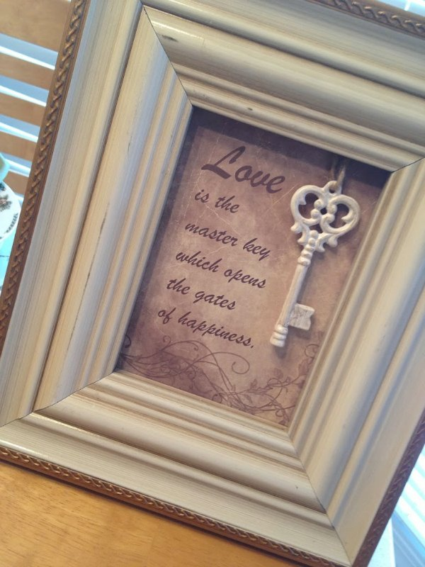 Table Top Framed Quote Decor