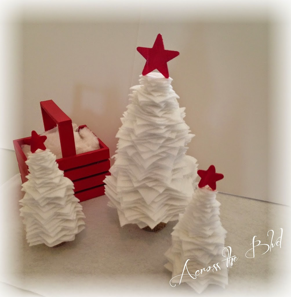 Snowy Stacked Felt Christmas Trees