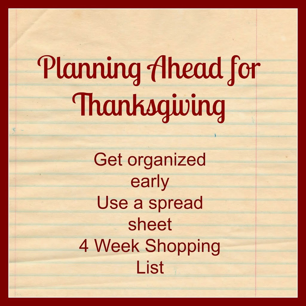 Planning Ahead for Thanksgiving