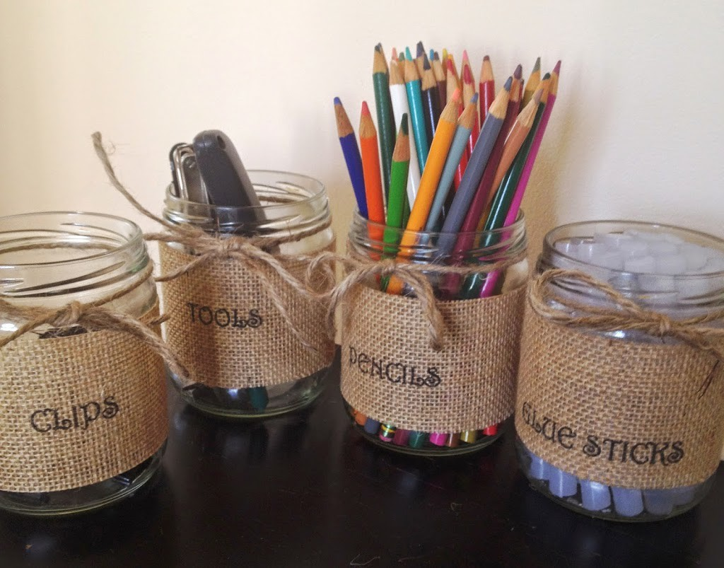 Adding Some Decorative Touches to Craft Supply Space