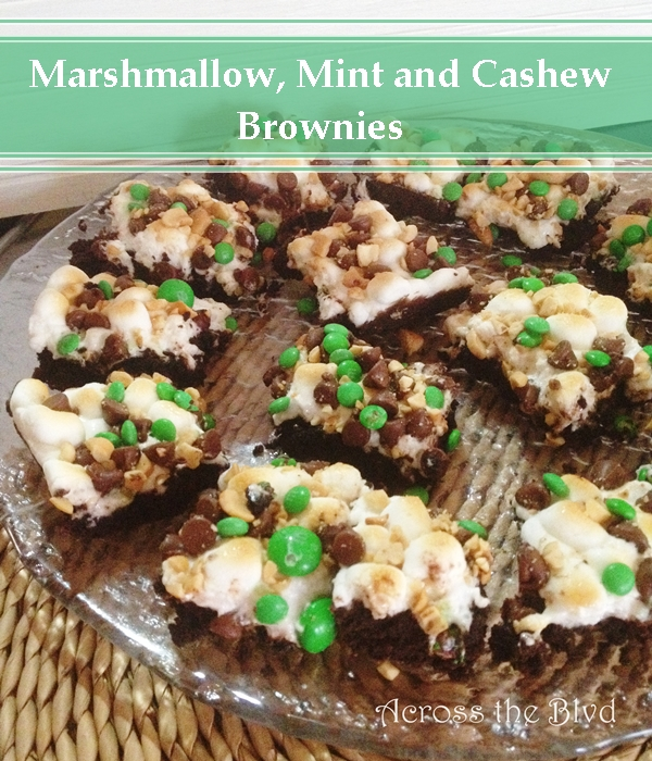 Marshmallow, Mint, and Cashew Brownies Across the Blvd