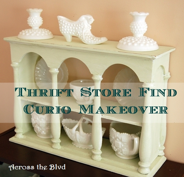 Thrift Store Find ~ Wall Curio Makeover
