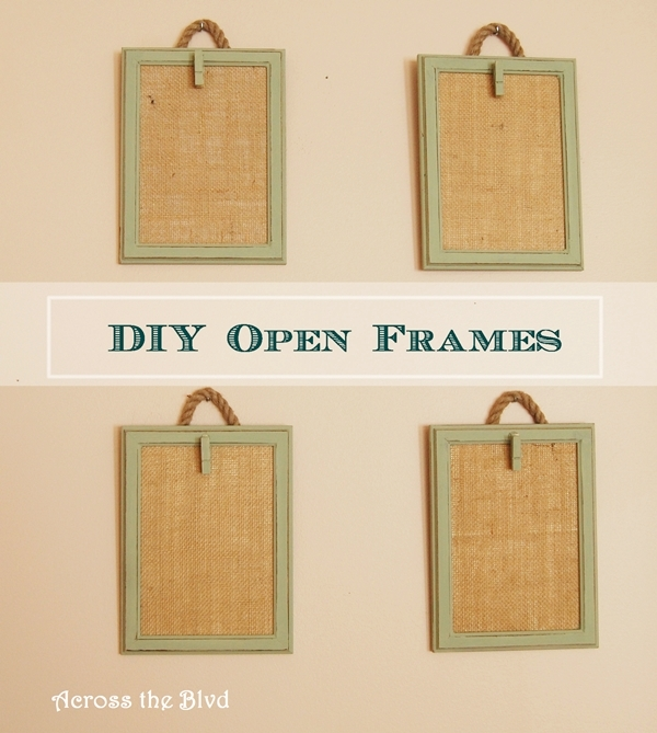 DIY Open Frames