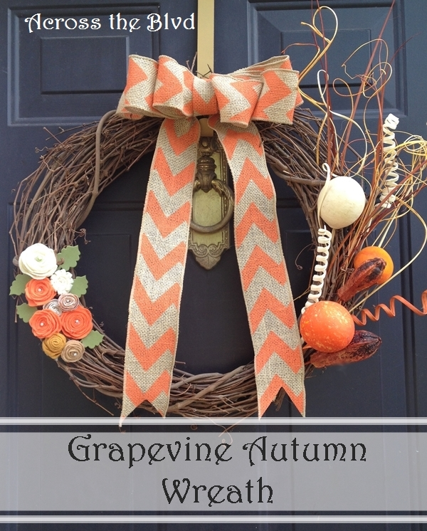 Grapevine Wreath For Fall Across the Blvd