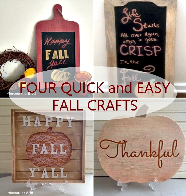 Four Quick and Easy Fall Crafts Across the Blvd