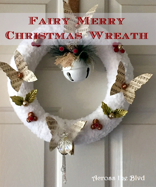 Fairy Merry Christmas Wreath Across the Blvd