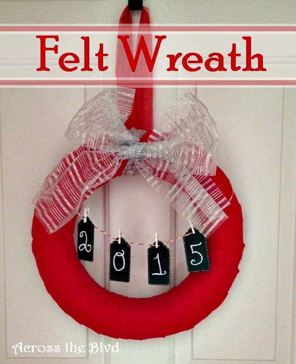Easy Felt Wrapped Christmas Wreath