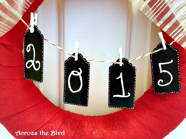 Chalk Board Painted Tags