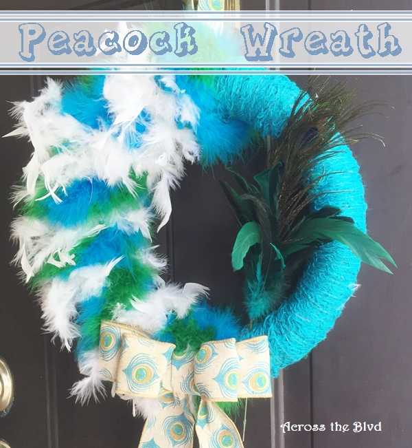 Peacock Wreath Across the Blvd