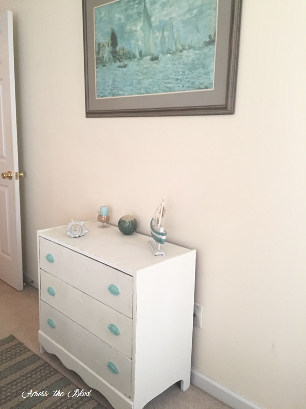 Chest of Drawers Beneath SeaScape Print