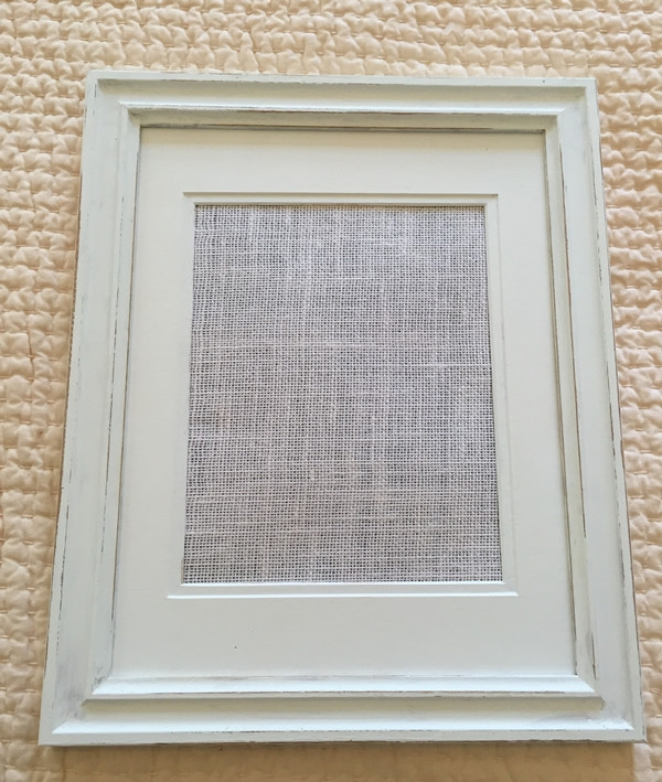 Distressed frame with canvas backing
