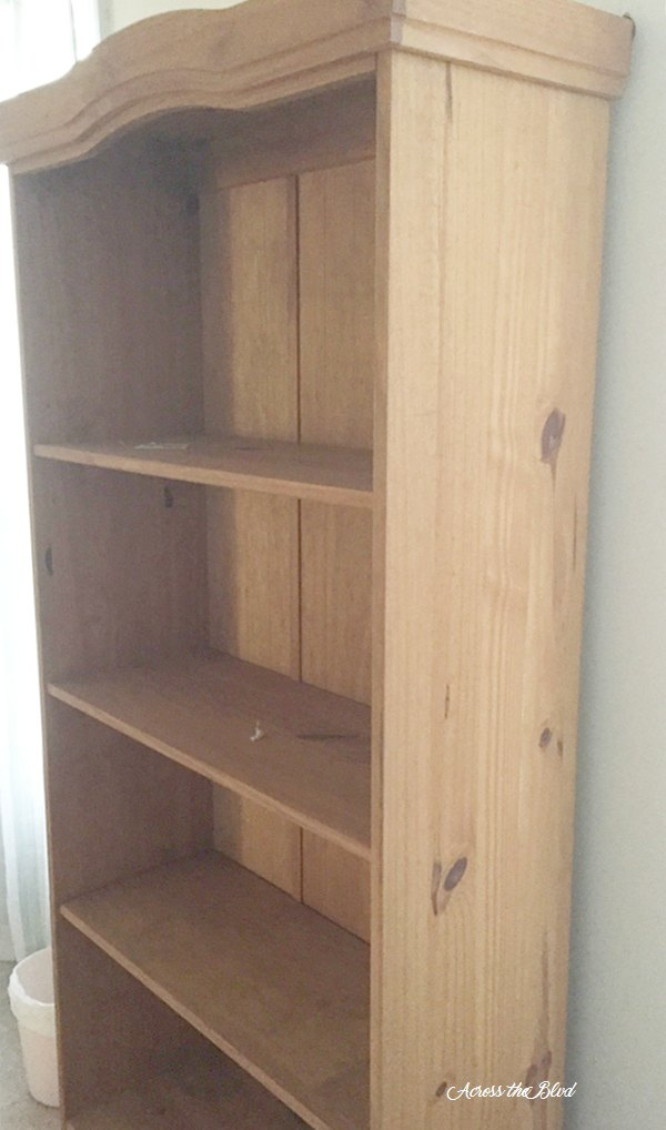 honey tone bookcase side panel