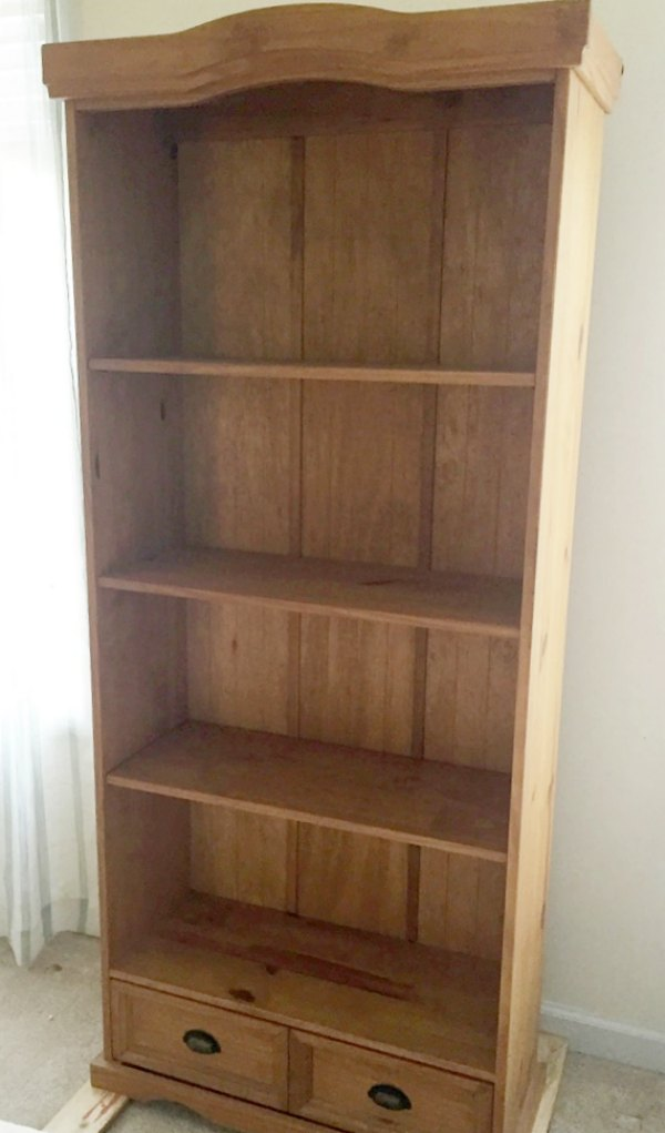 Old honey tone bookcase