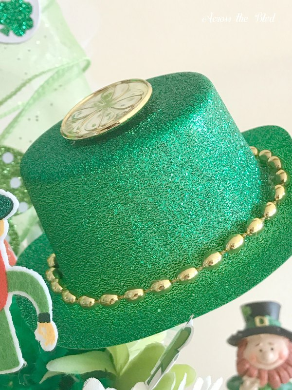 small party hat on leprechaun hat