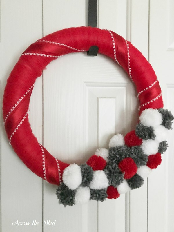 Red Ribbon on Valentine's Day Wreath