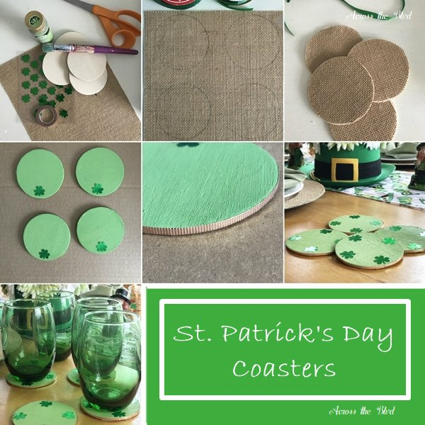 St Patrick's Day DIY Coasters Collage