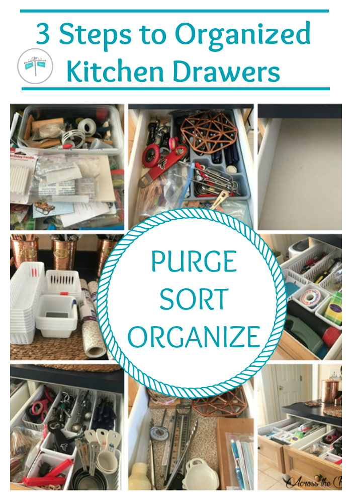 collage photo organized kitchen drawers