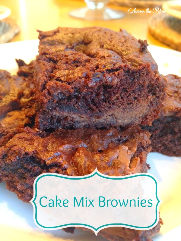Cake Mix Brownies with Candy Melts