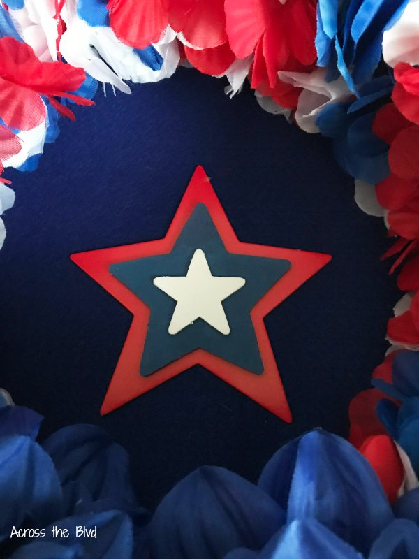 Patriotic Wreath stars in center