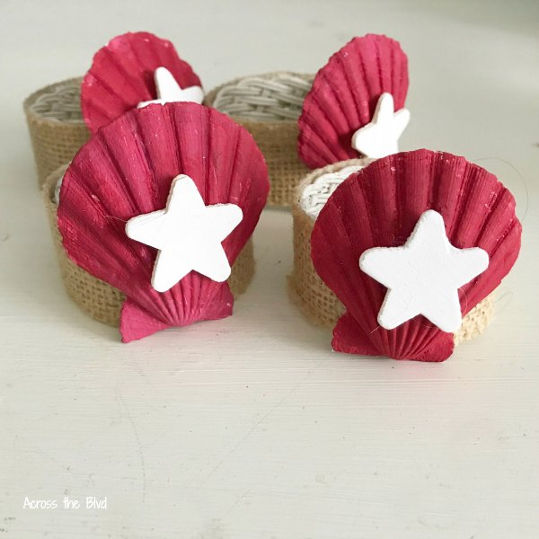 Coastal Patriotic Napkin Rings