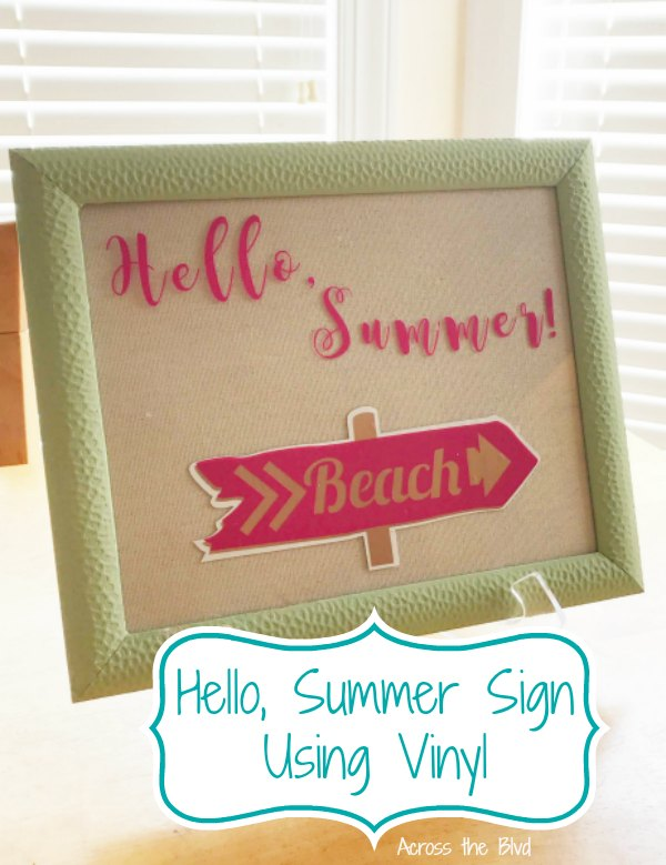 Hello Summer Wall Art Using Vinyl