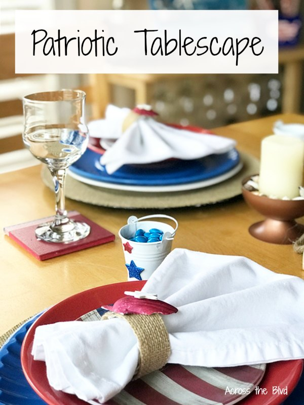 Patriotic Tablescape With Coastal Flair