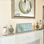 DIY Coastal Mantel Decor Across the Blvd