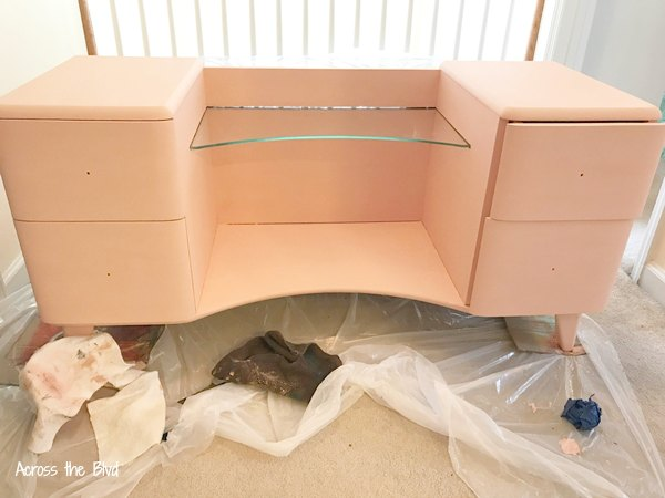 Vintage Vanity Makeover painted