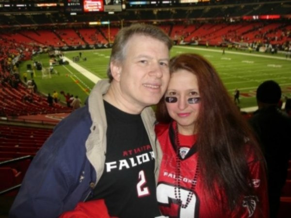 The Start of Football Season Brings Memories and Fun | Dave and Beverly at Falcons game