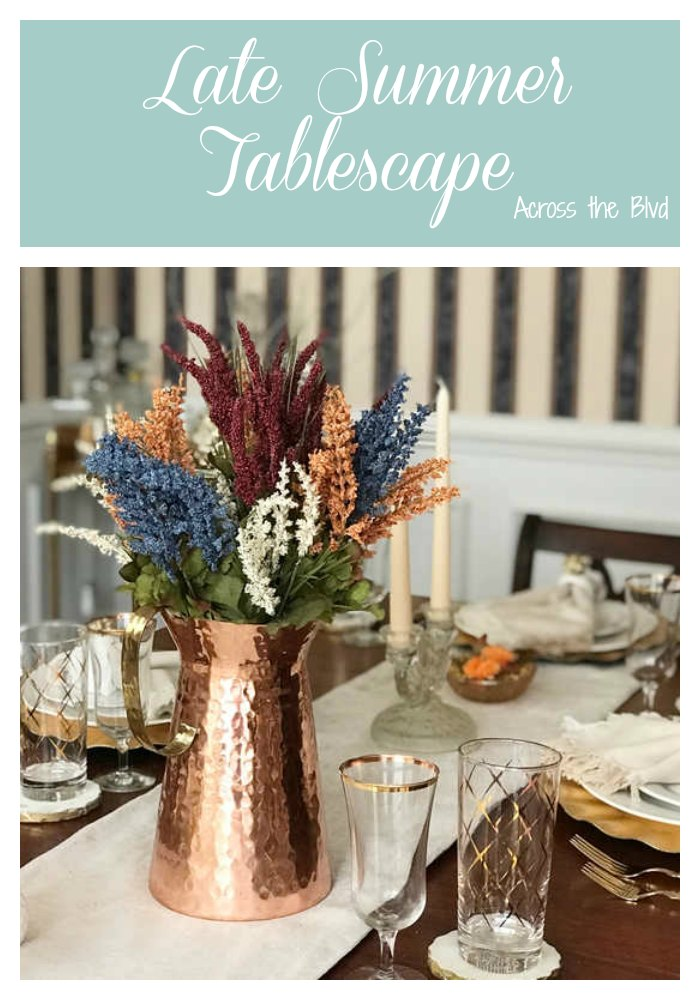 Late Summer Tablescape with Copper and Gold Accents