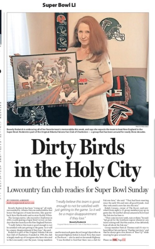 The Start of Football Season Brings Memories and Fun | Newspaper article about Falcon fans in Charleston