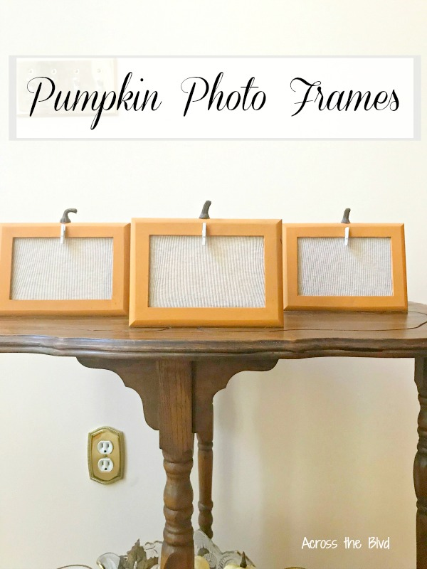 Making Pumpkin Photo Frames for Fall Decor