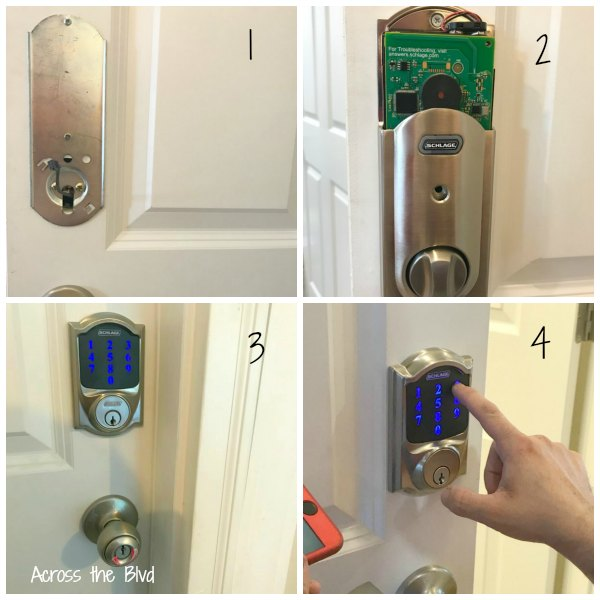 Smart Lock Installation on Door Collage