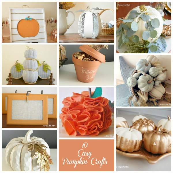 Ten Easy Pumpkin Crafts for Fall Decor