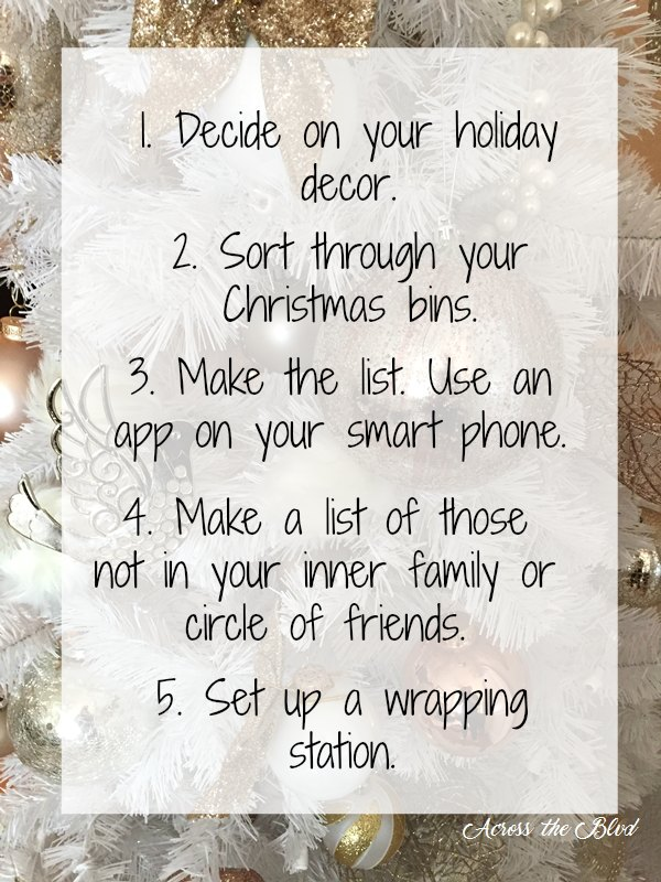 5 things to do now to prep for christmas