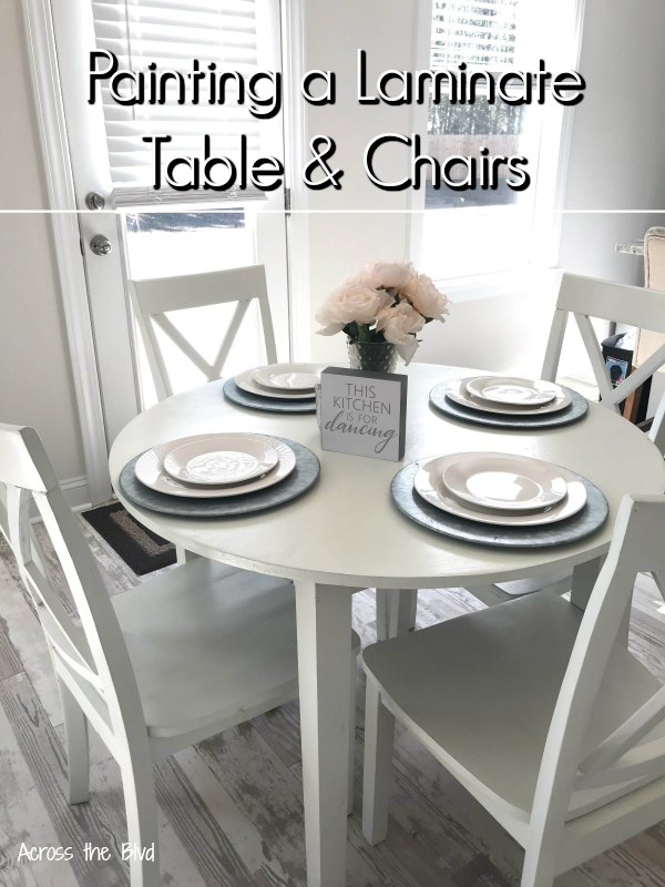Painting a Laminate Table and Chairs White