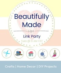 Party Graphic for Beautifully Made Link Party
