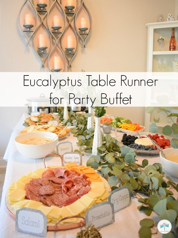 Eucalyptus Table Runner for Party Buffet
