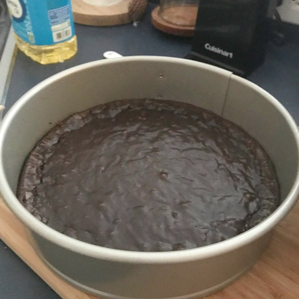brownie crust in spring form pan