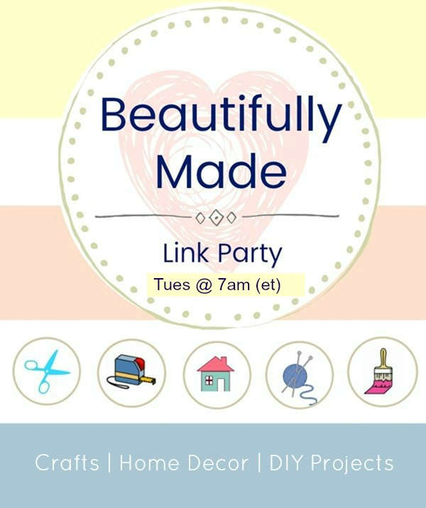 Beautifully Made Link Party Graphic