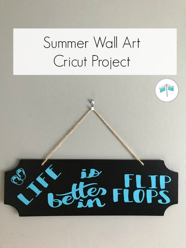 Flip flop quote on black sign with blue letters