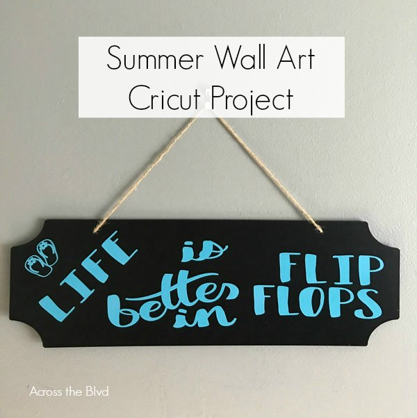 black sign with flip flop quote for summer