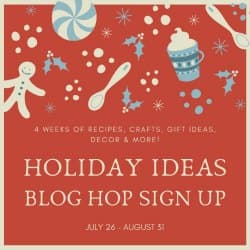 holiday ideas blog hop sign up graphic