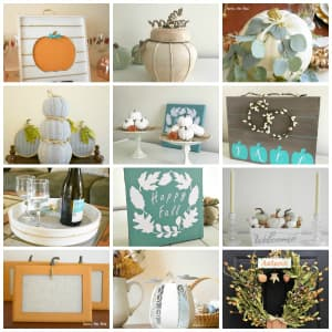 collage photo of fall diy projects