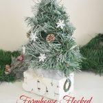 flocked mini tabletop tree in crate