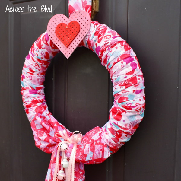 Pink and Red Valentine's Day Scarf Wreath