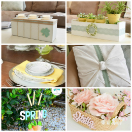spring craft collage