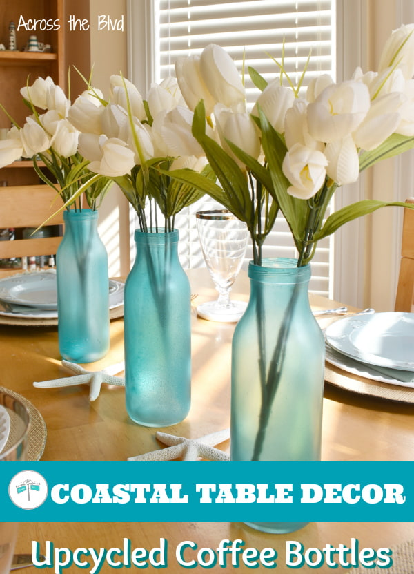 Spring Table Decor Using Old Bottles