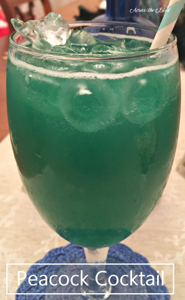 Peacock Cocktail with Midori