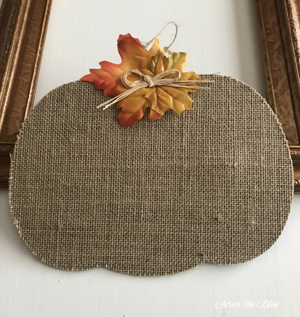 Fall Floral Frame Wreath dollar tree pumpkin